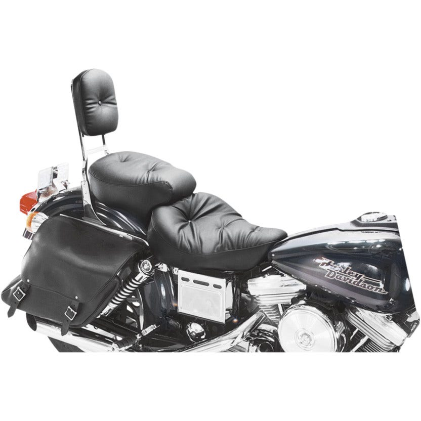 Details about Mustang Seats Wide Regal Touring Pillow 2 up Seat Harley Dyna  FXD 96-03