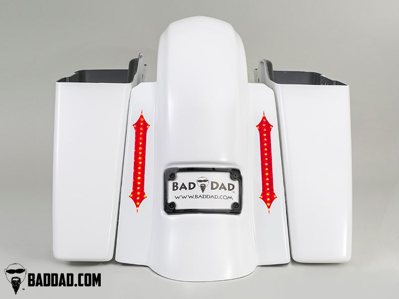 Bad-Dad-Summit-Dual-Bag-Kit-w-Recess-Flush-Mount-Taillight-Black-Plate-09-13-FL miniature 2