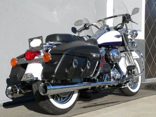 DNA-Chrome-4-034-Megaphone-Tapered-Slip-On-Mufflers-95-16-Harley-Touring-FLH-T Indexbild 3