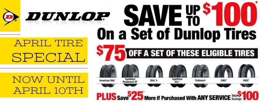 Dunlop April Sale