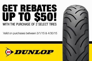 Dunlop $50.00 Rebates