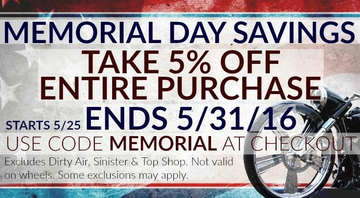Memorial Day 5% Off Sale
